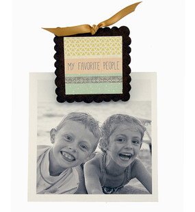 my favorite people clip fridge photo magnet cute whimsical home decor gift girlfriend wife inspirational kids family friends handmade in michigan usa