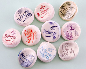 believe worry stone help how to break a habit pocket trinket gift person that has everything inspirational stocking stuffer motivational stress relief buster