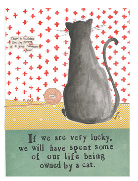 if we are very lucky we will have spent some of our life being owned by a cat curly girl designs whimsical cute refrigerator fridge magnet gift for cat kitten lover owner