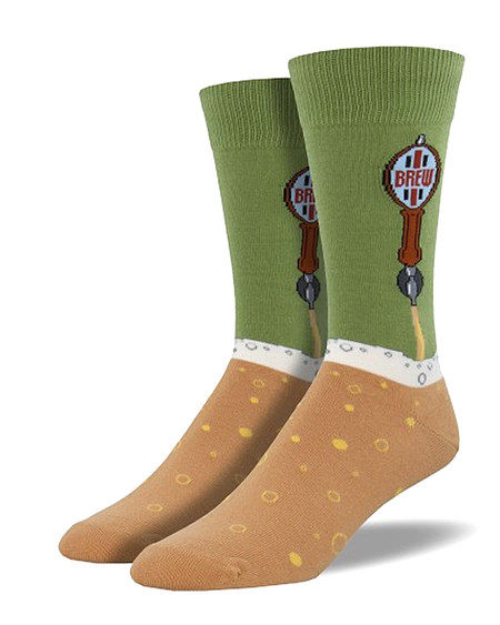 beer tap mens novelty socks green craft beer lover brewery dad grandpa grandfather husband boyfriend stocking stuffer gift fathers day
