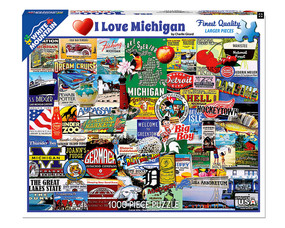 i love michigan detroit great lakes state puzzle unique gift michigan native michigander