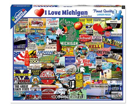 i love michigan detroit great lakes state puzzle unique gift michigan native michigander