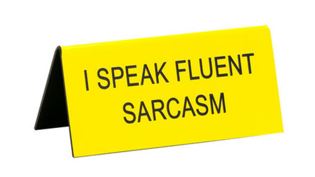 i speak fluent sarcasm funny humorous desk sign co worker gift cute office supplies whimsical acrylic