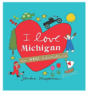 i love michigan abc adventure book kids children little boy girl gift stocking stuffer great lakes state