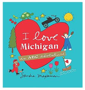i love michigan abc adventure book kids children little boy girl gift stocking stuffer great lakes state