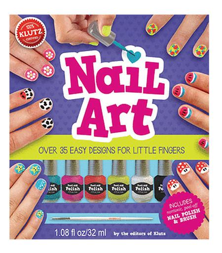 nail art book kit little girls cute gift activity manicure set