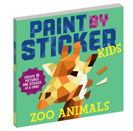 paint by sticker zoo animals kids book creative art no mess
