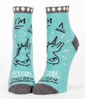 im a special unicorn ankle socks women ladies girls teen stocking stuffer cute whimsical funny gift humrous