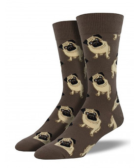 pugs puppy dog mens guys socks boys stocking stuffer pet unique funny humorous dad