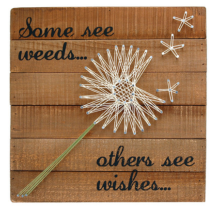 Some See Weeds Others See Wishes Inspirational Whimsical Pallet Wall  Artwork Sting Art Retro Vintage Dandelion
