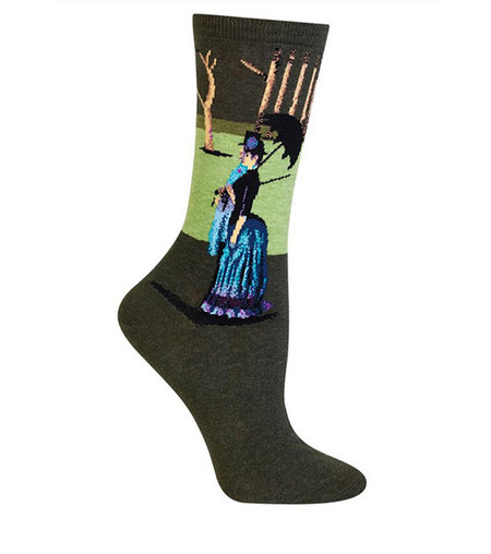 sunday afternoon in the park famous artist socks gift stocking stuffer teacher girlfriend wife sister daughter teen girl woman novelty artsy whimsical fashion accessory cute Georges Seurat