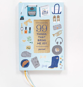 99 ninety nine things that bring me joy book guided journal stocking stuffer great gift graduation  retirement mom mothers day