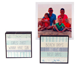 beach days vacation summer photo frame block whimsical reversible quotes sayings