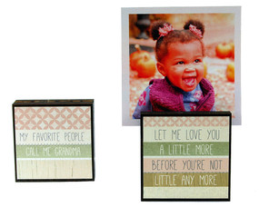 my favorite people call me grandma photo frame block whimsical reversible quotes sayings