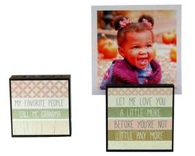 my favorite people call me grandma photo frame block whimsical reversible quotes sayings