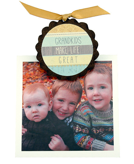 grandkids make life great pic photo clip fridge magnet whimsical quote saying sentiment magnetic inspirational