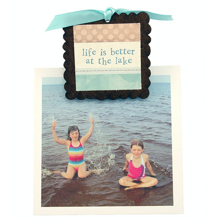 life is better at the lake vacation pic photo clip fridge magnet whimsical quote saying sentiment magnetic inspirational