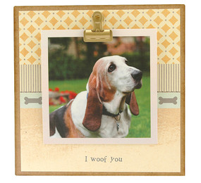 i woof you dog pet tiny rustic photo clip frame whimsical cute custom personalized handmade usa gift