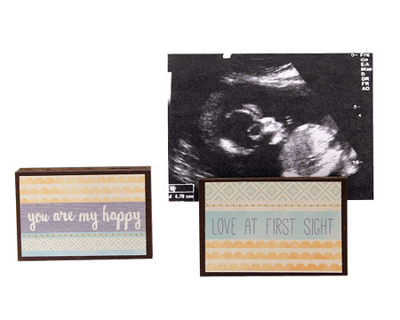love at first sight ultrasound sonogram photo frame block whimsical gift reversible quote sentiment holds multiple photos new parents baby shower gift
