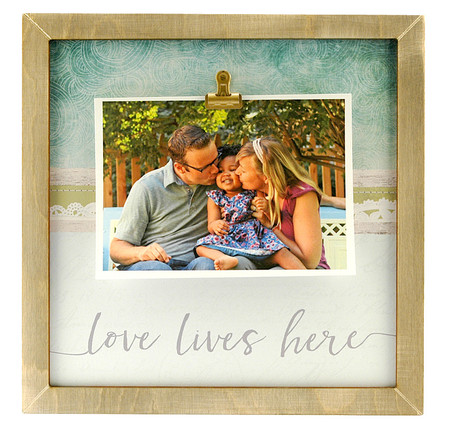 love lives here large clip frame valentines day anniversary wedding kids handmade mom mothers day custom - Mom Picture Frame