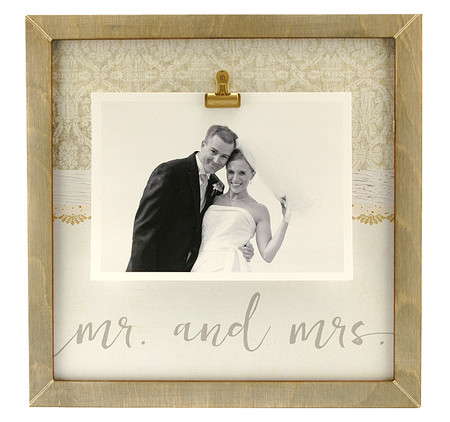 mr mrs rustic large clip frame wedding bridal shower handmade custom personalized instagram - Mr And Mrs Frame