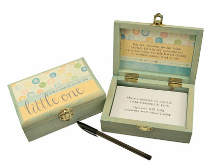little one baby new parents baby shower gift unique memory keepsake box sentimental inspirational