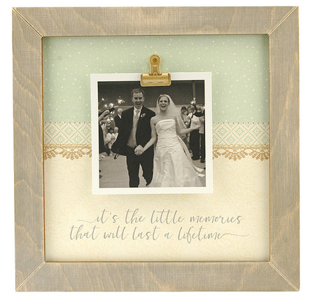 little memories rustic clip frame whimsical valentines day gift mothers day mom birthday kids handmade usa custom personalized family  wedding