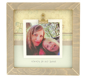 always in my heart rustic clip frame whimsical mothers day gift handmade usa custom personalized baby kids little boy girl toddler instagram photo