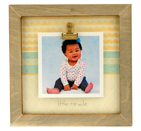 little miracle rustic clip frame whimsical mothers day gift handmade usa custom personalized baby kids little boy girl toddler instagram photo sonogram ultrasound