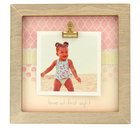 love at first sight rustic clip frame whimsical mothers day gift handmade usa custom personalized baby kids little boy girl toddler instagram photo sonogram ultrasound
