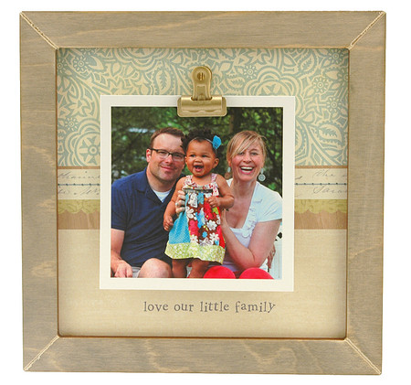 love our little family rustic clip frame whimsical mothers day gift handmade usa custom personalized baby kids little boy girl toddler instagram photo mothers day gift