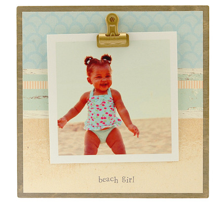 beach girl rustic clip frame whimsical mothers day gift handmade usa custom personalized baby kids little boy girl toddler instagram photo vacation beach summer