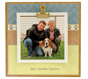 best friends furever cat dog pet tiny rustic photo clip frame whimsical cute custom personalized handmade usa gift