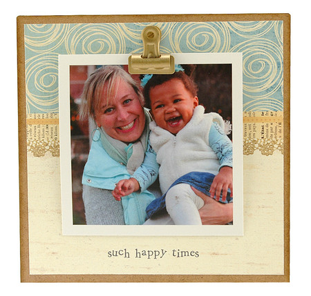 happy times  rustic clip frame whimsical mothers day gift handmade usa custom personalized baby kids little boy girl toddler instagram photo grandkids mothers fathers day