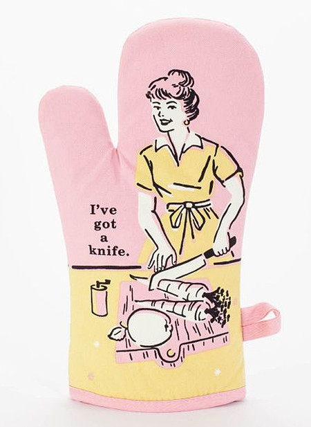 ive got a knife funny humorous kitchen retro gift for the cook mom girlfriend mothers day pink
