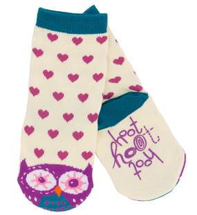 kids animal hoot owl socks blue purple pink stocking stuffer little girl non skid sole warm easter goodies