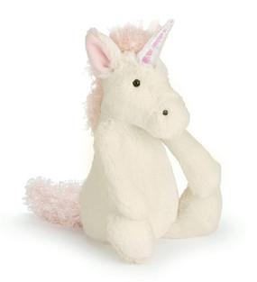 jellycat unicorn medium bashful plush stuffed toy silky gift little girl magical birthday cute