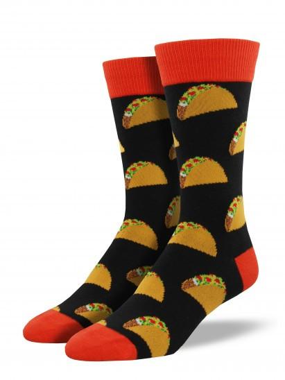 humorous socks for taco lovers great for guys dad teen tween graduation gift taco Tuesday