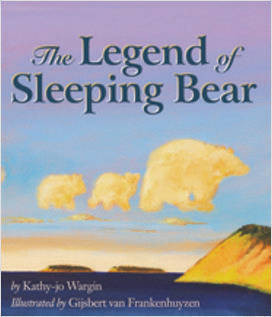sleeping bear dunes, mythology, michigan, great lakes