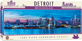 puzzles,detroit,michigan,skyline,panoramic