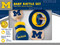 rattle,baby,gift for baby shower,university of michigan, u of m,michigan fan