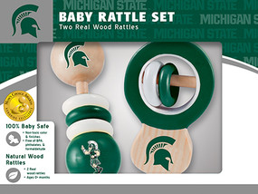 rattle,baby,gift for baby shower,michigan state,msu,michigan fan
