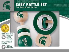 rattle,baby,gift for baby shower,michigan state,msu,michigan fan