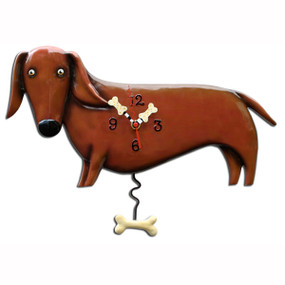 dog wall clock,allen designs, michelle allen, cute clocks, whimsical clock, gift for dog lover