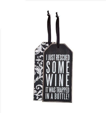 wine,wine tag,funny,primitives by kathy