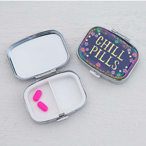 pill box, chill pills, medicine, cute