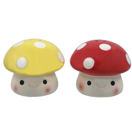 salt and pepper shakers, mushroom, fungi, cute