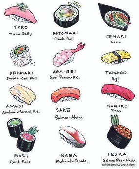 towel, sushi, flour sack, food, cute
