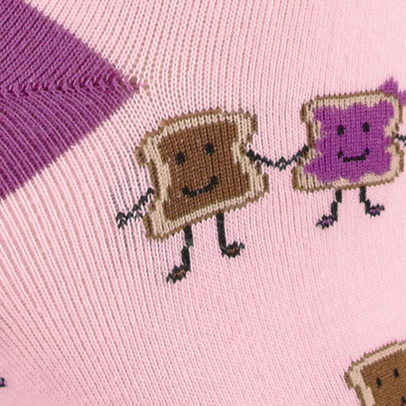 peanut butter and jelly, pb&j, socks