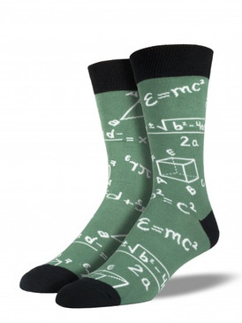 math, socks, nerd, novelty socks